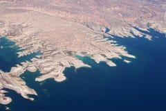 De kustlijn van de woestijn stock afbeelding