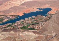 De kustlijn van de woestijn royalty-vrije stock foto