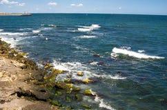 De kustlijn van de Zwarte Zee royalty-vrije stock foto's