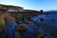 De kustlijn van Elgol, eiland van skye, Schotland Stock Fotografie