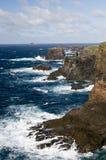 De kustlijn van Eshaness Royalty-vrije Stock Foto's