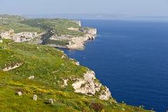 De kustlijn van Gozo stock foto's