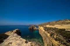 De Kustlijn van Gozo stock foto