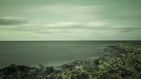 De kustlijn van Havana stock foto's
