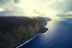 De kustlijn van Hawaï Stock Afbeelding