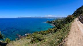 De kustlijn van het Akamasgebied in Cyprus 6 stock foto's