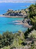 De kustlijn van het Akamasgebied in Cyprus 2 stock afbeeldingen