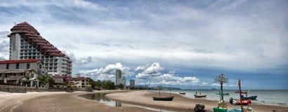 De kustlijn van Hin van Hua stock foto's