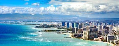De Kustlijn van Honolulu stock foto's