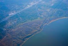 De kustlijn van Houston stock foto