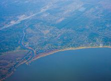 De kustlijn van Houston stock afbeelding