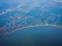 De kustlijn van Houston stock fotografie