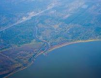 De kustlijn van Houston royalty-vrije stock fotografie