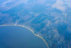 De kustlijn van Houston stock foto's
