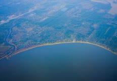 De kustlijn van Houston royalty-vrije stock afbeeldingen