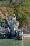De kustlijn van Huatuclo toneel royalty-vrije stock afbeeldingen