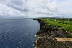 De kustlijn van kaapzanpa in Okinawa Stock Foto