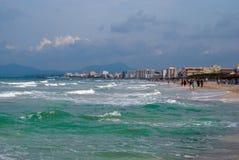 De kustlijn van kan Picafort Royalty-vrije Stock Foto