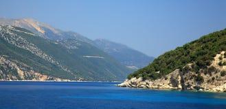 De kustlijn van Kefalonia Royalty-vrije Stock Foto's