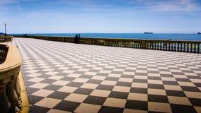 De kustlijn van Livorno in Toscanië, Italië Royalty-vrije Stock Foto's