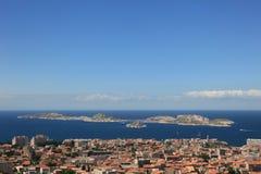 De Kustlijn van Marseille Frankrijk Royalty-vrije Stock Afbeelding