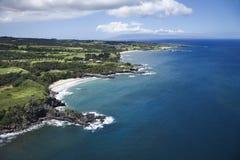 De kustlijn van Maui. royalty-vrije stock afbeeldingen