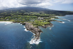 De kustlijn van Maui. Royalty-vrije Stock Foto's