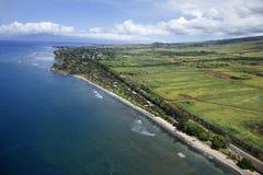 De kustlijn van Maui. royalty-vrije stock fotografie