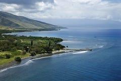De kustlijn van Maui. stock foto