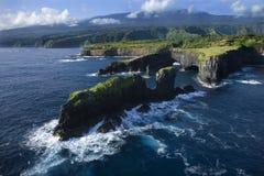 De kustlijn van Maui. stock afbeelding
