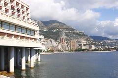De Kustlijn van Monaco Stock Afbeelding