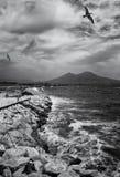 De kustlijn van Napels Stock Foto