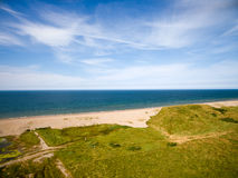 De kustlijn van Norfolk, zonnige dag bij het strand Royalty-vrije Stock Foto