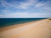 De kustlijn van Norfolk, zonnige dag bij het strand Royalty-vrije Stock Afbeelding