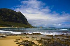 De Kustlijn van Oahu stock afbeeldingen