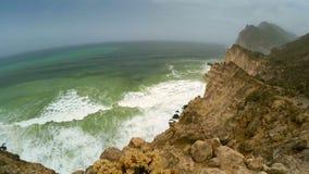 De kustlijn van Oman stock footage