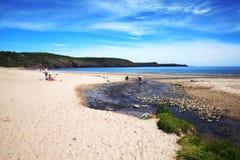 De kustlijn van Pembrokeshire Stock Foto