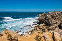 De kustlijn van Peniche Stock Foto