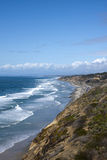 De Kustlijn van San Diego met Vreedzame OceaanGolven Royalty-vrije Stock Foto