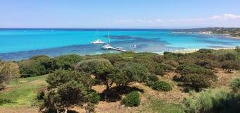 De kustlijn van Sardinige, Italië Royalty-vrije Stock Afbeeldingen