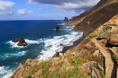 De kustlijn van Tenerife stock fotografie