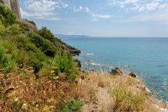 De kustlijn van Toscanië Royalty-vrije Stock Fotografie