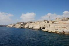 De Kustlijn van Valletta Stock Afbeelding