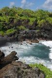 De Kustlijn van Waianapanapa stock afbeelding