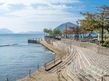 De kustlijn van wijst baai, Hong Kong af stock foto