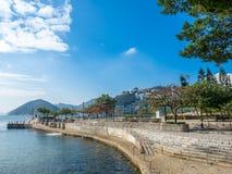 De kustlijn van wijst baai, Hong Kong af royalty-vrije stock fotografie