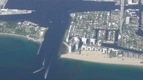 De kustlijnantenne van Florida stock footage