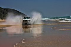 De kustrit is een ervaring, Fraser Island, Australië stock foto