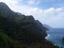 De Kustspoor van Na Pali, Kauai, Hawaï Stock Foto