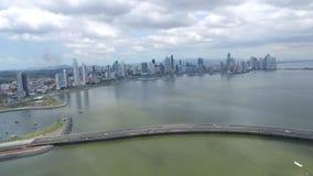 De kuststrook van Panama met oceaanmening stock footage